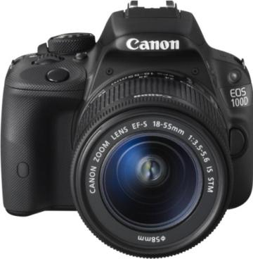 Canon EOS 100D SLR-Digitalkamera (18 Megapixel, 7,6 cm (3 Zoll) Touchscreen, Full HD, Live-View) Kit inkl. EF-S 18-55mm 1:3,5-5,6 IS STM - 3