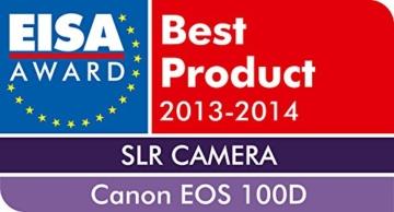 Canon EOS 100D SLR-Digitalkamera (18 Megapixel, 7,6 cm (3 Zoll) Touchscreen, Full HD, Live-View) Kit inkl. EF-S 18-55mm 1:3,5-5,6 IS STM - 9