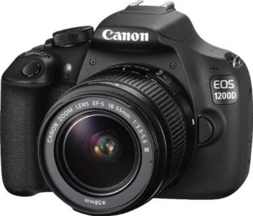 Canon EOS 1200D SLR-Digitalkamera (18 Megapixel APS-C CMOS-Sensor, 7,5 cm (3 Zoll) LCD-Display, Full HD) nur Gehäuse schwarz - 11
