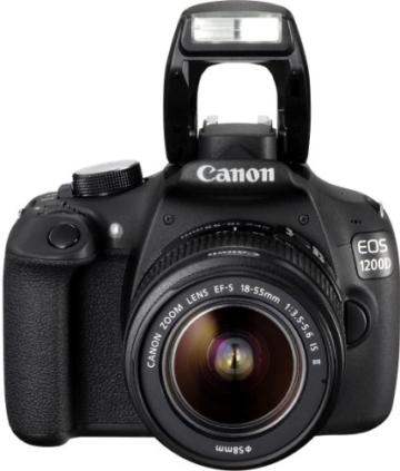 Canon EOS 1200D SLR-Digitalkamera (18 Megapixel APS-C CMOS-Sensor, 7,5 cm (3 Zoll) LCD-Display, Full HD) nur Gehäuse schwarz - 2