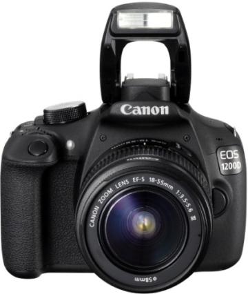 Canon EOS 1200D SLR-Digitalkamera (18 Megapixel APS-C CMOS-Sensor, 7,5 cm (3 Zoll) LCD-Display, Full HD) nur Gehäuse schwarz - 4