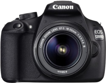 Canon EOS 1200D SLR-Digitalkamera (18 Megapixel APS-C CMOS-Sensor, 7,5 cm (3 Zoll) LCD-Display, Full HD) nur Gehäuse schwarz - 7