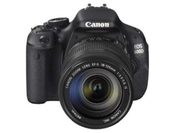 Canon EOS 600D SLR-Digitalkamera (18 Megapixel, 7,6 cm (3 Zoll) schwenkbares Display, Full HD) Kit inkl. EF-S 18-135mm 1:3,5-5,6 IS - 1