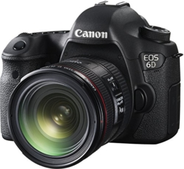 Canon EOS 6D Digital-SLR Kamera (20,2 Megapixel CMOS-Sensor, Live View, Full HD, WiFi, GPS, DIGIC 5+) mit EF 24-70mm 1:4 L IS USM Objektiv Kit - 1