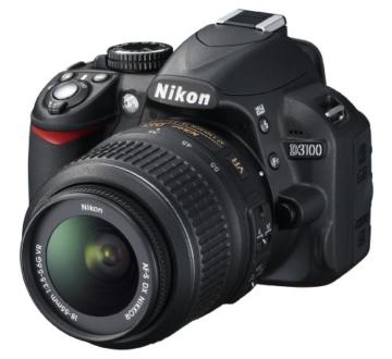 Nikon D3100 SLR-Digitalkamera (14 Megapixel, Live View, Full-HD-Videofunktion) Kit inkl. AF-S DX 18-55 VR Objektiv schwarz - 2