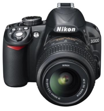 Nikon D3100 SLR-Digitalkamera (14 Megapixel, Live View, Full-HD-Videofunktion) Kit inkl. AF-S DX 18-55 VR Objektiv schwarz - 3
