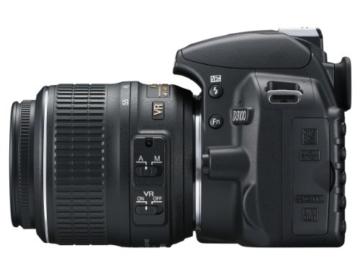 Nikon D3100 SLR-Digitalkamera (14 Megapixel, Live View, Full-HD-Videofunktion) Kit inkl. AF-S DX 18-55 VR Objektiv schwarz - 4