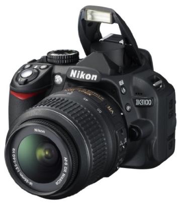 Nikon D3100 SLR-Digitalkamera (14 Megapixel, Live View, Full-HD-Videofunktion) Kit inkl. AF-S DX 18-55 VR Objektiv schwarz - 6