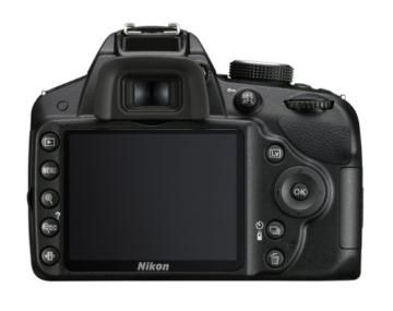 Nikon D3200 SLR-Digitalkamera (24 Megapixel, 7,4 cm (2,9 Zoll) Display, Live View, Full-HD) nur Gehäuse schwarz - 1