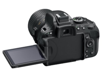 Nikon D5100 SLR-Digitalkamera (16 Megapixel, 7.5 cm (3 Zoll) schwenk- und drehbarer Monitor, Live-View, Full-HD-Videofunktion) Gehäuse - 4