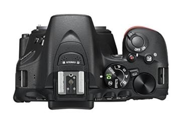 Nikon D5500 SLR-Digitalkamera (24 Megapixel, 8,1 cm (3,2 Zoll) Touchscreen-Display, bildstabilisiert, Full-HD-Video, Wi-Fi) Kit inkl. 18-55mm VR II Objektiv schwarz - 5