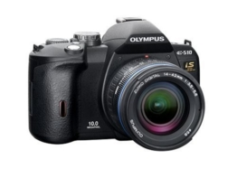Olympus E-510 SLR-Digitalkamera (10 Megapixel, LifeView, Bildstabilisator) Double Zoom Kit inkl. EZ1442 und EZ4015-2 - 1