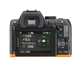 Pentax K-S2 Spiegelreflexkamera (20 Megapixel, 7,6 cm (3 Zoll) LCD-Display, Full-HD-Video, Wi-Fi, GPS, NFC, HDMI, USB 2.0) nur Gehäuse schwarz/orange - 1
